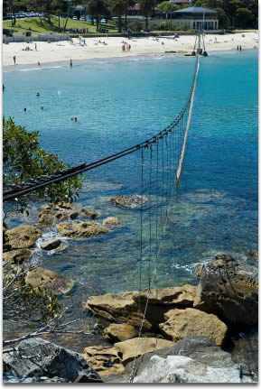 Image of Beach in Mosman, Sydney, secured by a shark safety net
